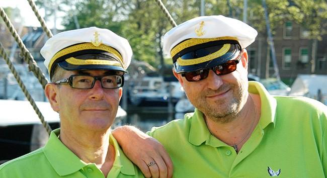 Oprichters Henk en Frank